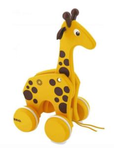 Brio giraf, trækdyr fra Brio, Giraf fra Brio, legetøj fra Brio