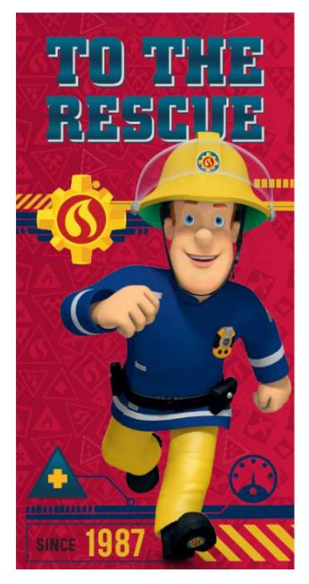 gaver til 2-årige drenge, 2 år gaver, gaver til 2 år drenge, Brandmand Sam håndklæde, Brandmand Sam junior håndklæde, håndklæde med Brandmand Sam, Brandmand Sam gave,