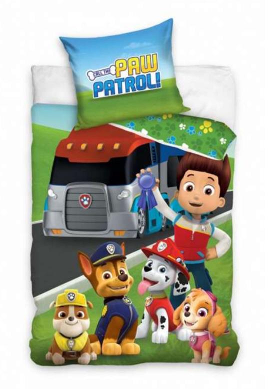 Paw Patrol sengetøj, Paw Patrol junior sengetøj, sengetøj med Paw Patrol, Paw Patrol gave, gaver til 2-årige drenge