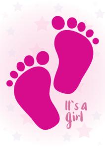 Baby-girl-fødder-gratis-babyplakat