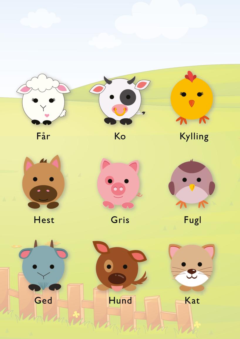 plakat med dyr, plakat med bondegårds dyr, gratis plakat, print selv plakat, børne plakater, plakat med bondegård