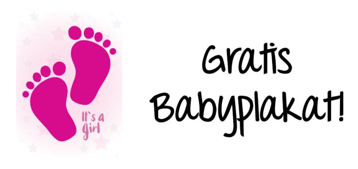 Gratis Babyplakat