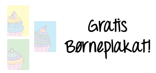 gratis-børneplakat-børneværelset-cupcakes