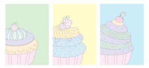 gratis-cupcake-farvet-børneplakat-børneværelset