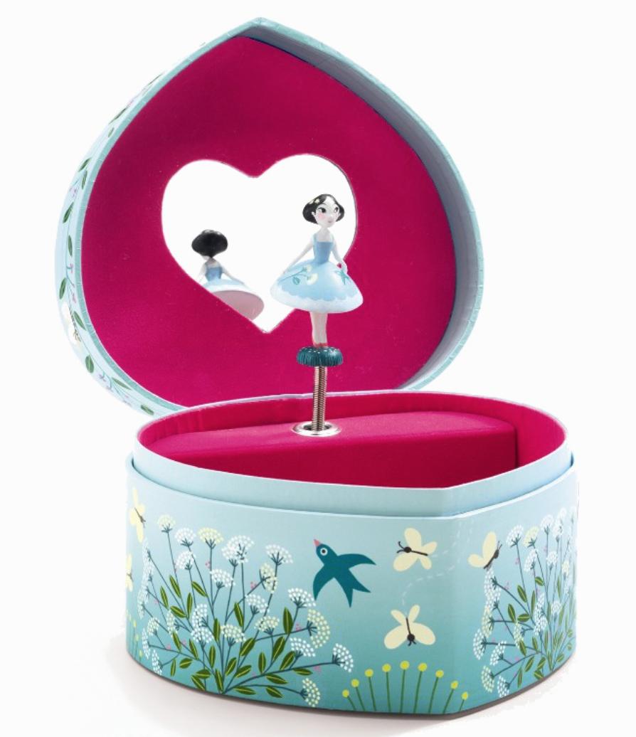 smykkeskrin med prinsesse og musik, Magisk Egern smykkeskrin, smykke box til piger, farverigt smykkeskrin med prinsesse, Smykkeæske med blomster