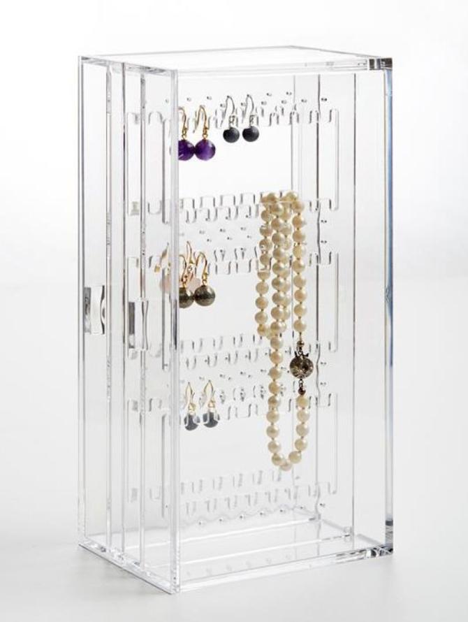 Neon Living Diamond Rack, Plexiglas smykkeskrin, elegant smykkeskrin, nem opbevaring af smykker