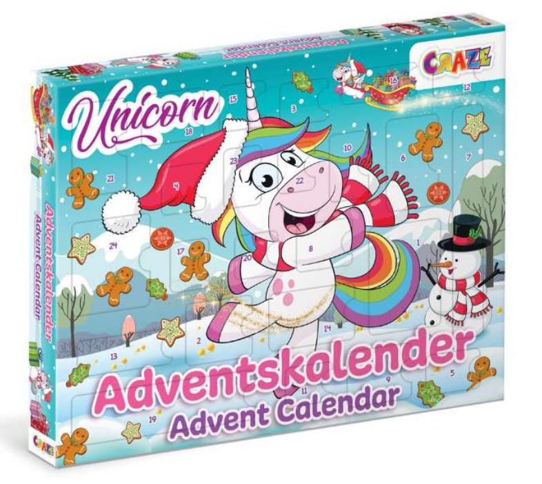 Enhjørning julekalender, julekalender med enhjørning, julekalender til piger, pige julekalener, sjove julekalender til piger, unicorn julekalender,