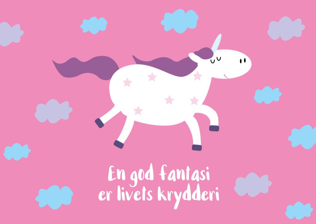 Enhjørning plakat, pigeværelse plakat, gratis plakat med enhjørning, unicorn plakat, plakat med unicorn, gratis plakater til børn, gratis børneplakater