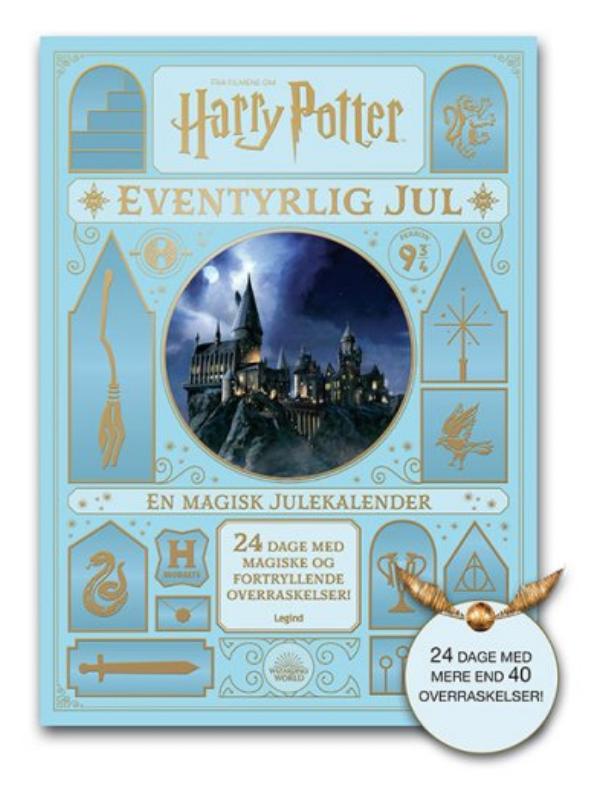 Harry potter julekalender, julekalender med harry potter, Bog julekalender 2021, Harry Potter julekalender 2021, bog Julekalender til piger 2021, bog julekalender til drenge 2021