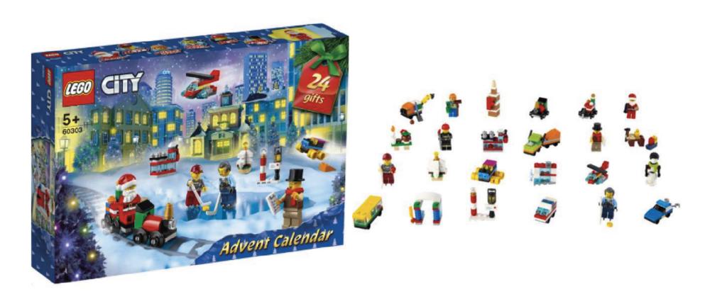 Lego city julekalender 2021, julekalender med lego city 2021, Julekalender med lego 2021, julekalender til piger, julekalender til drenge, Julekalender med LEGO