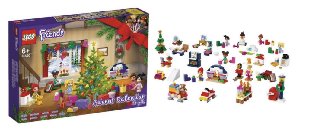 Lego friends julekalender, juleklaender med lego friends 2021, julekalender til piger, Lego julekalender 2021, julekalender til børn, adventskalender med lego, lego adventskalender