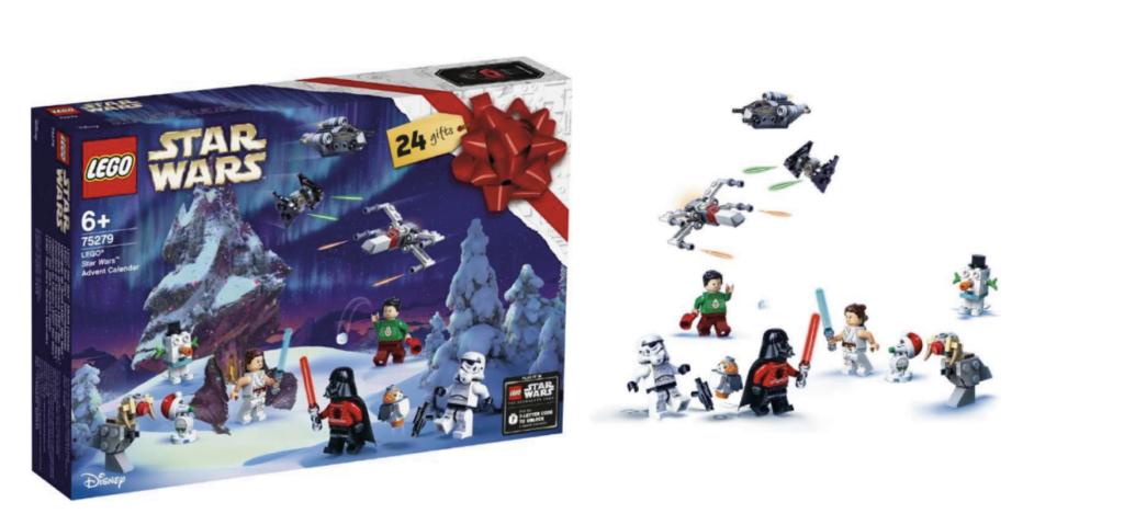 Julekalender med LEGO star Wars, Star Wars julekalender, julekalender til drenge, drenge julekalender 2021, Lego julekalender til drenge