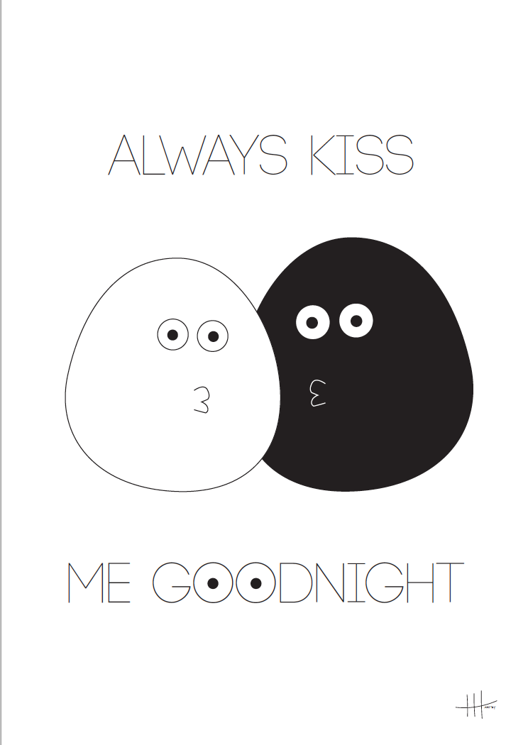 Gratis plakat, good night plakat, Henriette Hansen plakat, gratis plakater til børn, børneværelses plakat, Goodnight plakat