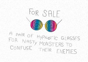 gratis plakat, gratis børneplakat, gratis babyplakat, gratis sjov plakat, baby not for sale, plakater til børneværelset, plakater til babyværelset, sjov børnplakat, sjov plakat, hypnose briller, hypnose briller plakat, plakat med hypnose briller
