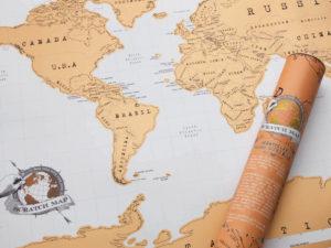 Verdenskort til børneværelset, Verdenskort skrabelod, skrabelod verdenskort