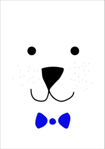 Isbjørn palakt, gratis børneplakat, gratis isbørjn plakat, søde børneplakater, gratis plakater, gratis børneplakater