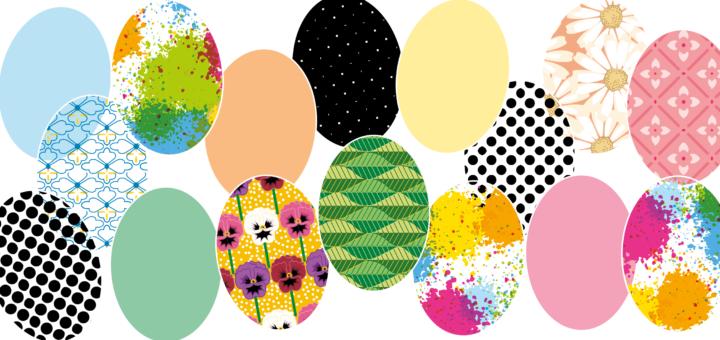 påske klip, print selv påske klip, DIY påske pynt, klip selv påskepynt, påskepynt til børneværelset, påskepynt børneværeslet, papir påske æg, påske æg i forskellige farver, 3d påske æg,