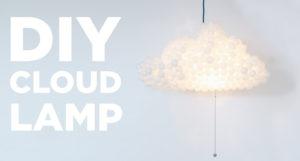 sky lampe, DIY sky lampe, lamper med skyer, sky lampe til børneværelset, sådan laver du en sky lampe, flotte sky lamper, flotte lamper til børneværelse