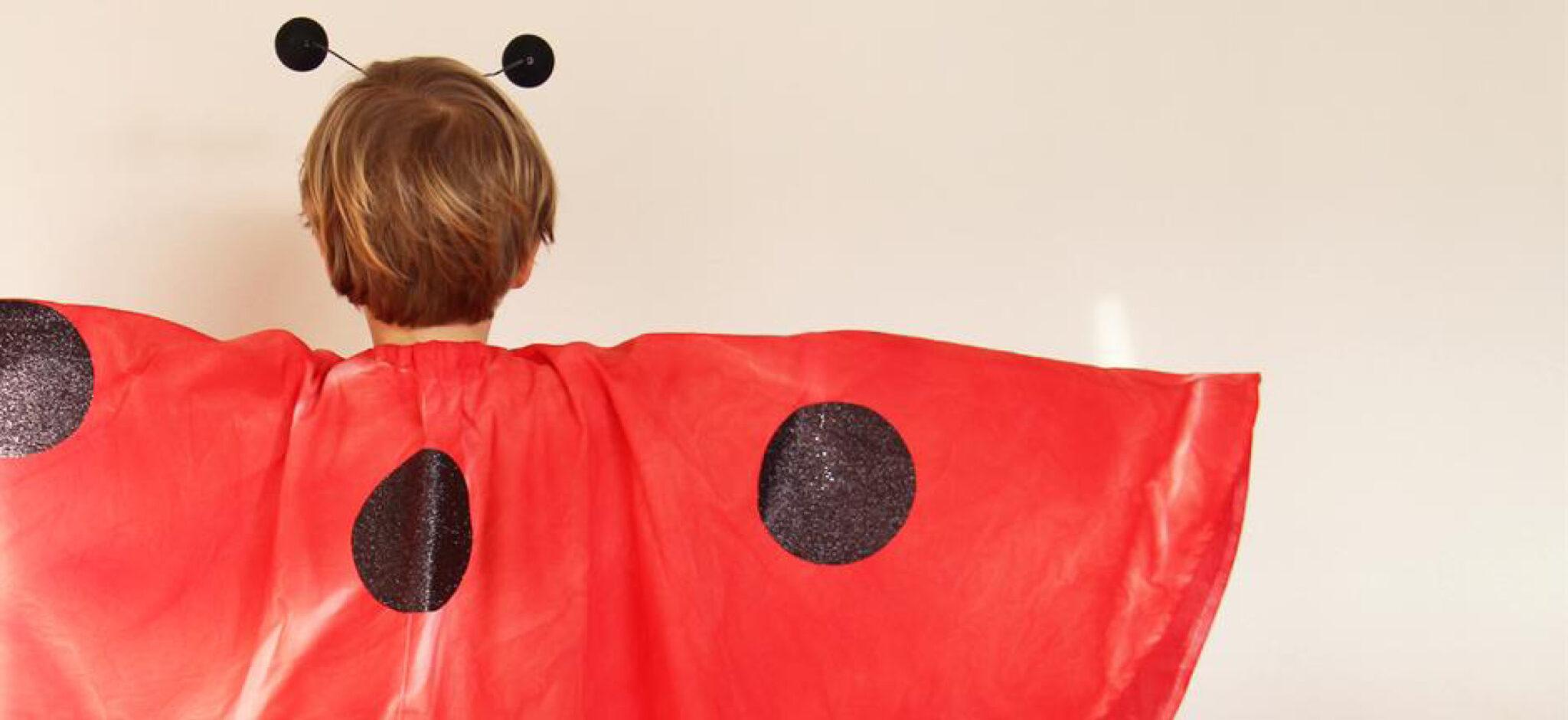 mariehøne kostume, kostume til fasteavn, fastlanvn kostume mariehøne, ladybug kostume, halloween kostume, kostume halloween, DIY kostume, hjemmelavet kostume, sådan laver du et fastelavnskostume, sådan laver du et halloween kostume
