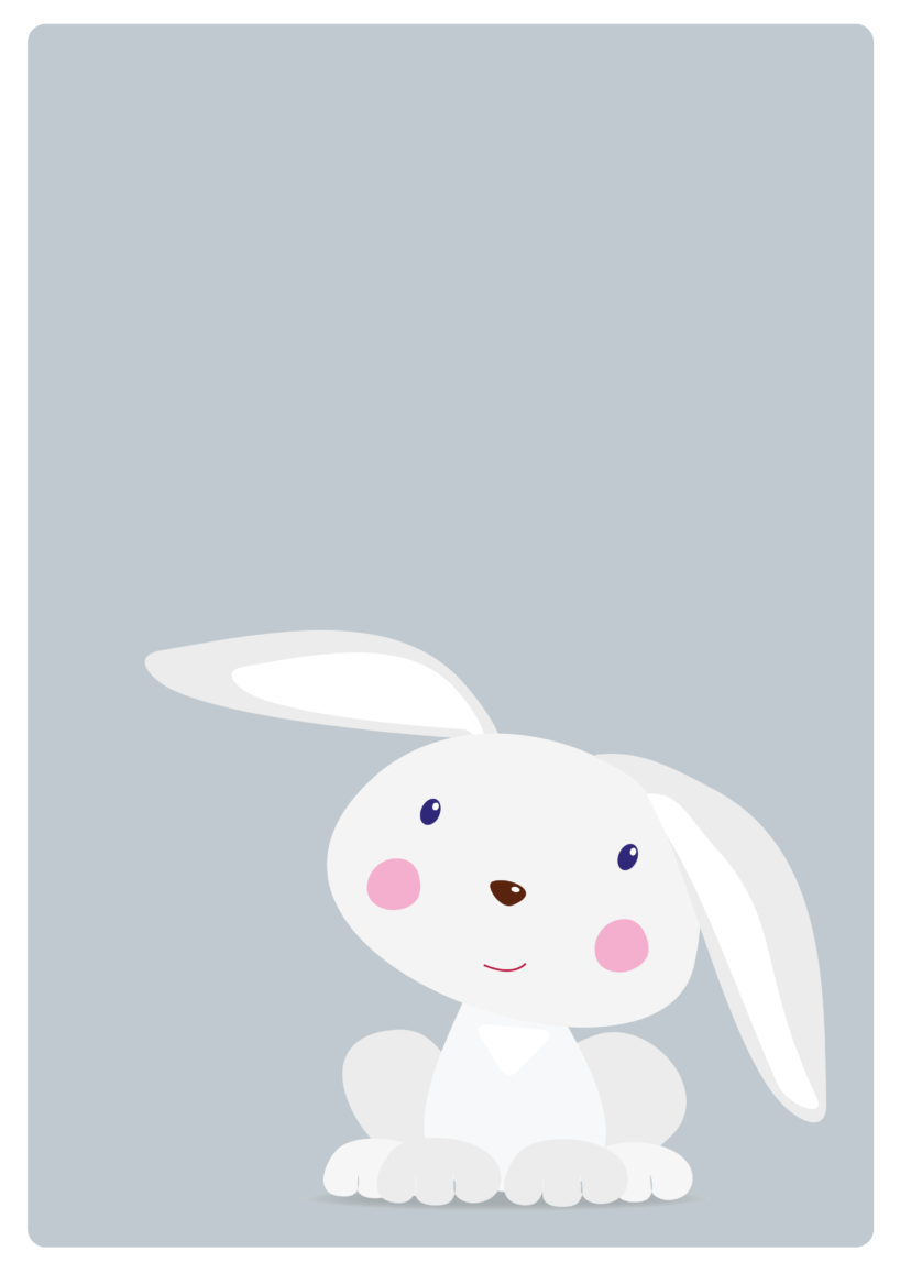 gratis plakat, gratis børneplakat, plakat til børn, børneplakat, plakat med kanin, gratis plakat med kanin,