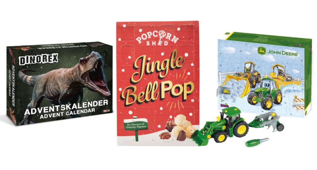 Anderledes julekalendere til drenge, julekalendere til drenge, legetøjs julekalendere, Drenge til julekalender, Julekalender 2021, Dinosaur julekalender, popcorn julekalender, John Deere julekalender, Hot Wheels julekalender, Biler julekalnder