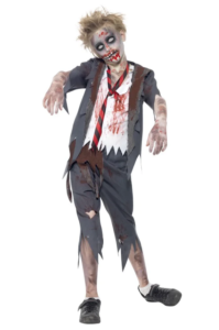 Zombie kostume, zombie kostumer til piger, børne zombie kostumer, kostumer til børn, halloween kostumer til børn, skoledreng zombie, zombie skoledrenge