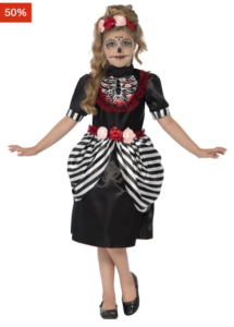 Zombie kostume til piger, zombie kostume til børn, rød hætte zombie kostume, billigt zombie kostume til piger, billigt zombie kostume