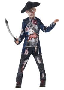 Zombie kostume, zombie kostumer til piger, børne zombie kostumer, kostumer til børn, halloween kostumer til børn, pirat zombie, zombie pirat