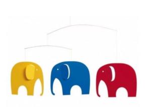 Elefant uro, uro med elefant, klassiske uroer til børn, børne uroer,