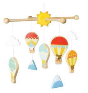 Uro til børn, Uro med luftballoner, luftballon uro, sky uro, indretning med skyer, gaver til babyer
