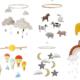 Uro med dyr, uro med bondegårdsdyr, bondegrådsdyr, dyr fra bondegården, filt uroer, uroer med filt, Regnbue uro, uro med regnbue, Uro til babyer, baby uro, uro fra Kong sløjd, uro med skyer, søde uroer til børn,Kong Sløjd uro, rengbue indretning, sød rengbue til børneværelset, uroer til børneværeslet, uroer til babyer, baby uroer, musikuroer, baby musikuroer, baby uroer, uroer til børneværeslet, uroer til børn, økologi uro til børn, økologi uro til baby