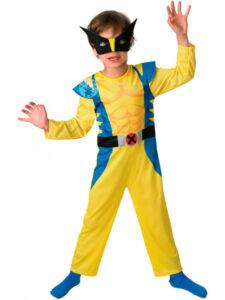 Wolverine kostume, drenge wolverine kostume, børne pilot kostume, populære halloween kostumer 2019, 2019 popullære halloween kostumer, populær udkædning til Halloween, superhelte udklædning til børn, superhelte kostume til børn