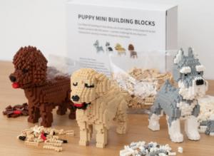 Hundehvalp Mini 3D-byggesæt , 3D byggesæt, lego hunde, mandelgaver til børn, mandelgaver 2020