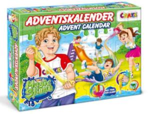 slim julekalender, julekalender med slim, adventskalender til børn, legetøjsjulekalender til børn, legetøjsjuleklaender