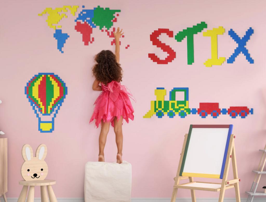 Stix, vægdekorationer til børneværelset, mandelgaver til børn, børnevenlige mandelgaver