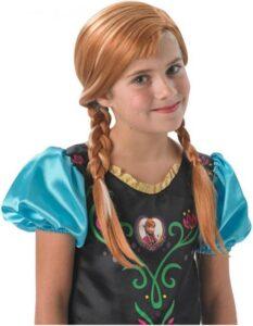 Frost 2 paryk, Anna paryk, Frost Anna paryk, paryk Anna fra frost, udklædning frost Anna, kostumer med Anna