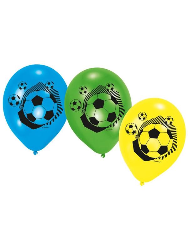 Fodbold balloner, balloner med fodboldte, fodbold fødselsdag,