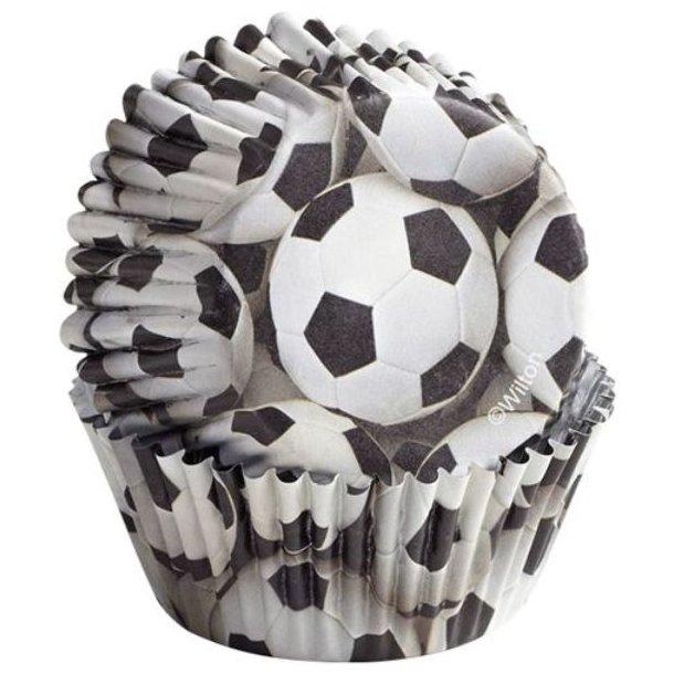 Fodbold muffinform, muffinforme med fodbold motiv, fodbold motiv muffin forme,