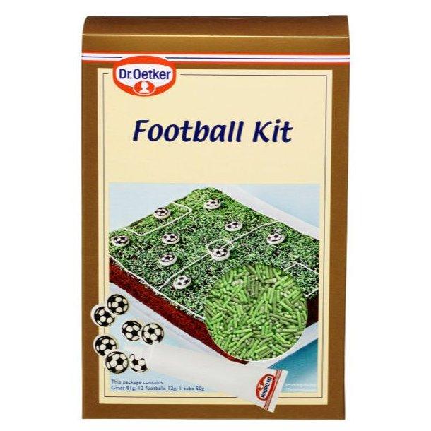 Fodbold kage, fodbold dekorations kit, fodbold dekoration sæt, sukker fodbold til kage, dekorationssæt til fodbold kage