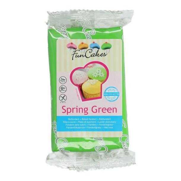 Grøn fondant, kage fondant, grøn kage fondant, kage fondant grøn