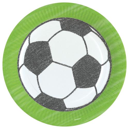 fodbold tallerkner, fodbold pap tallerkner, pynt med fodbold motiver, fodbold fødselsdag, borddækning til fodbold fødselsdag, borddækning til fødselsdag, fødselsdag med fodbold tema,