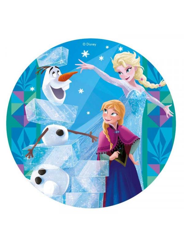 Sukkerprint med Frost motiv, Sukkerprint med Elsa, Sukkerprint med Anna, Spiseligt papir til Frost kage, Spiseligt papir med Frost, Frost 2 kage, Frost 2 kager, kager med Frost, Frost kager