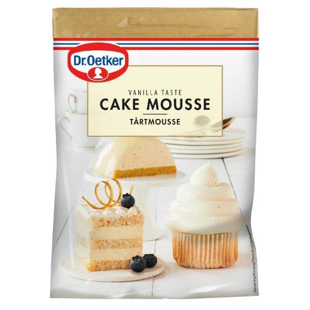 Kagemousse, cremet cupcake topping, fluffy topping til cupcakes, Cake mousse med vanilje smag