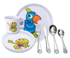 Barneservice Kaj og Andrea, serverings sæt til babyer, Kaj og Andrea