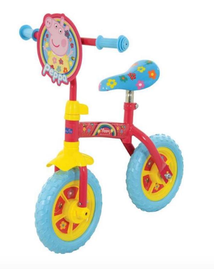 Gurli Gris 2i1 cykel, løbecykel, Løbecykel til børn, gaver til 3-årige piger, gaver til 3-årige drenge, Gurli Gris løbecykel