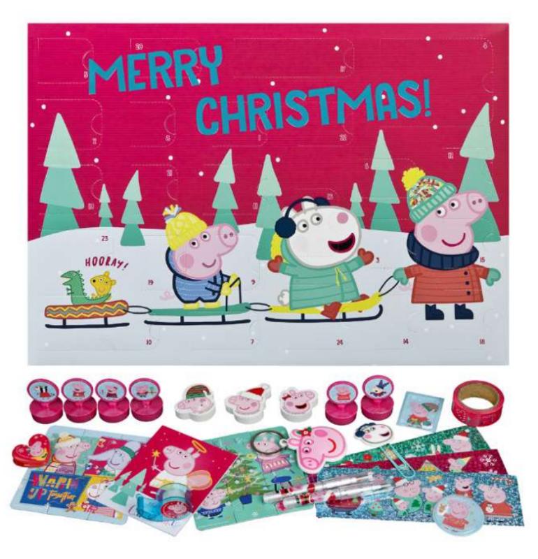 Gurli gris julekalender 2021, 2021 julekalender til piger, julekalener med Gurli Gris, legetøjsjulekalender 2021 til piger