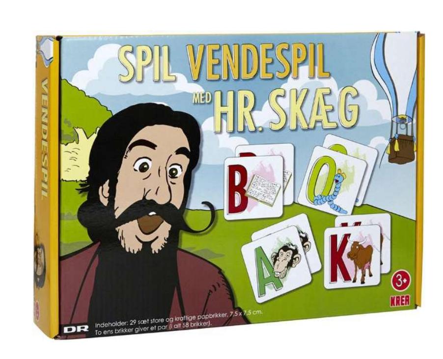 Hr skæg vendespil, mandelgaver til børn, julegaver til børn, spil med hr skæg, mandelgaver 2021,