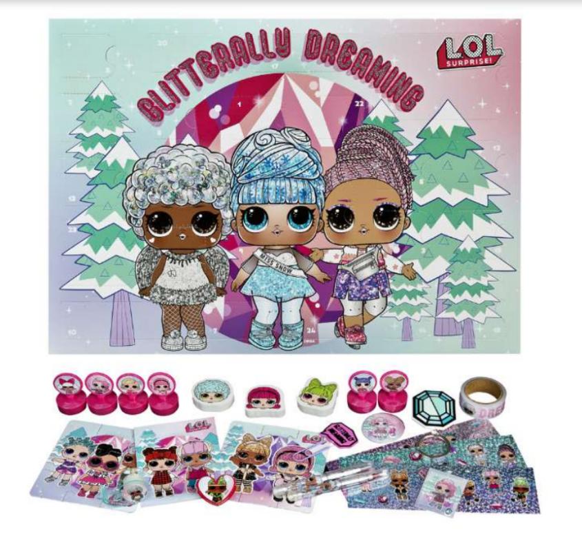 LOL Julekalender 2021,  LOL Julekalender, julekalender med LOL, julekalender til piger, julekalender til børn, legetøjsjulekalender, Julekalender til piger 2021