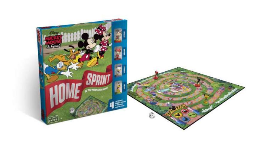 Mickey og Vennerne Brætspil , brætspil til børn, børn brætspil,  Mickey og Vennerne spil, gaver til 4 årige, gaver til piger
