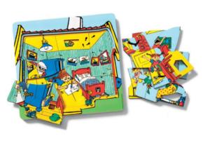 Pippi Lag-på-lag puslespil, Pippi puslespil, lag på lag puslespil, puslespil til 3 årige, puslespil til børn